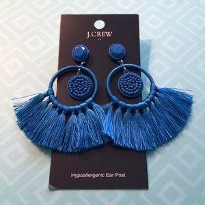 J Crew Factory Fringe Statement earrings